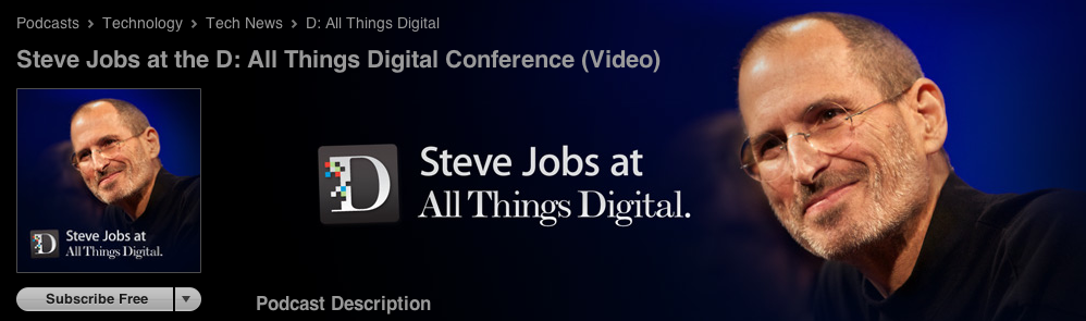 Steve Jobs on D: All Thinbs D Conferences