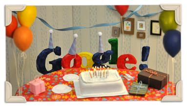 Google oslávil 13. narodeniny
