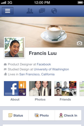 Facebook for iOS Timeline