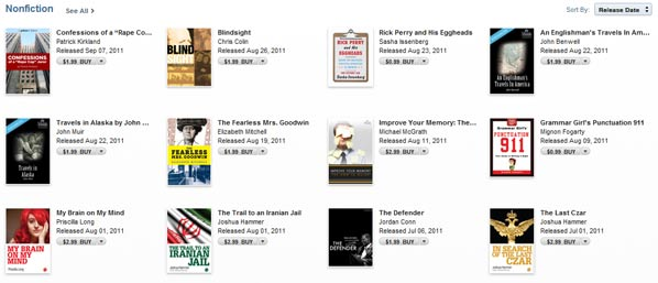 Quick Read Section in iBookstore