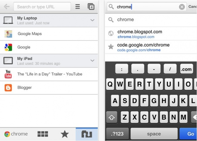 Google Chrome for iOS