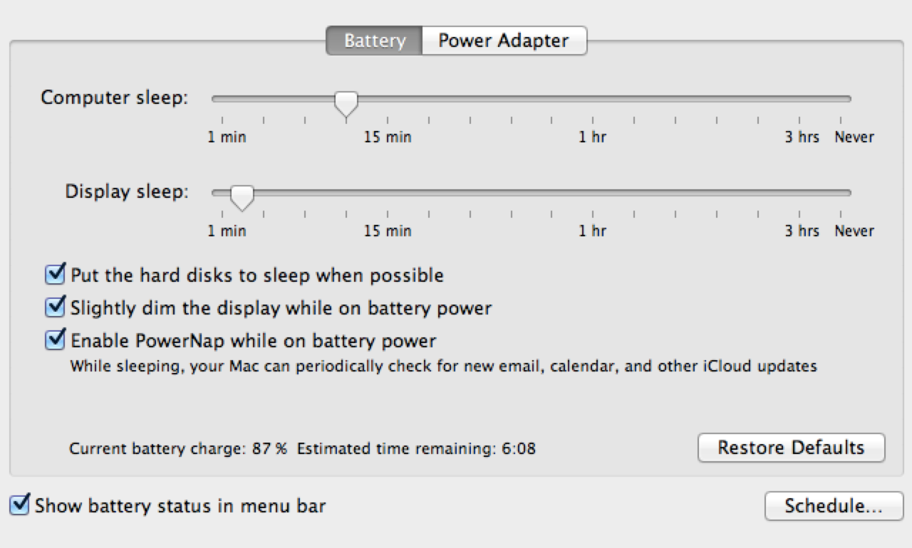 Mountain Lion DP 4 PowerNap