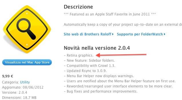 FolderWatch with Retina Graphics