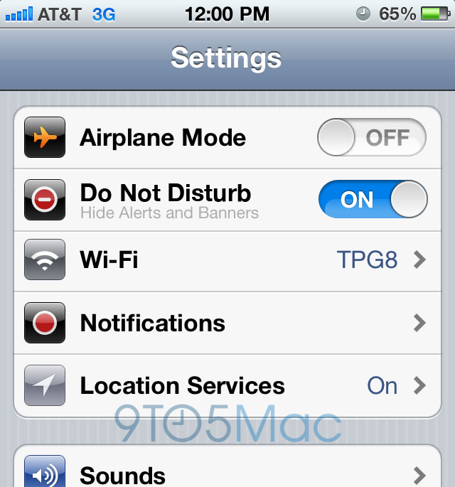 iOS 6 Do Not Disturb - Nerušiť