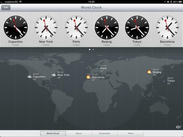 iOS 6 - iPad clock