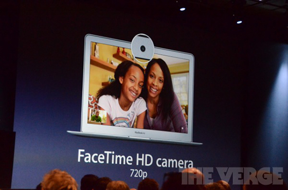 WWDC 2012 - MacBook Air 2012 - FaceTime kamera 720p