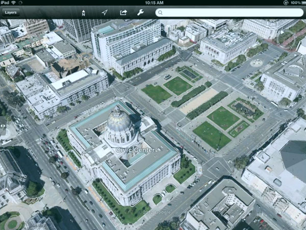 Google Earth for iOS with 3D