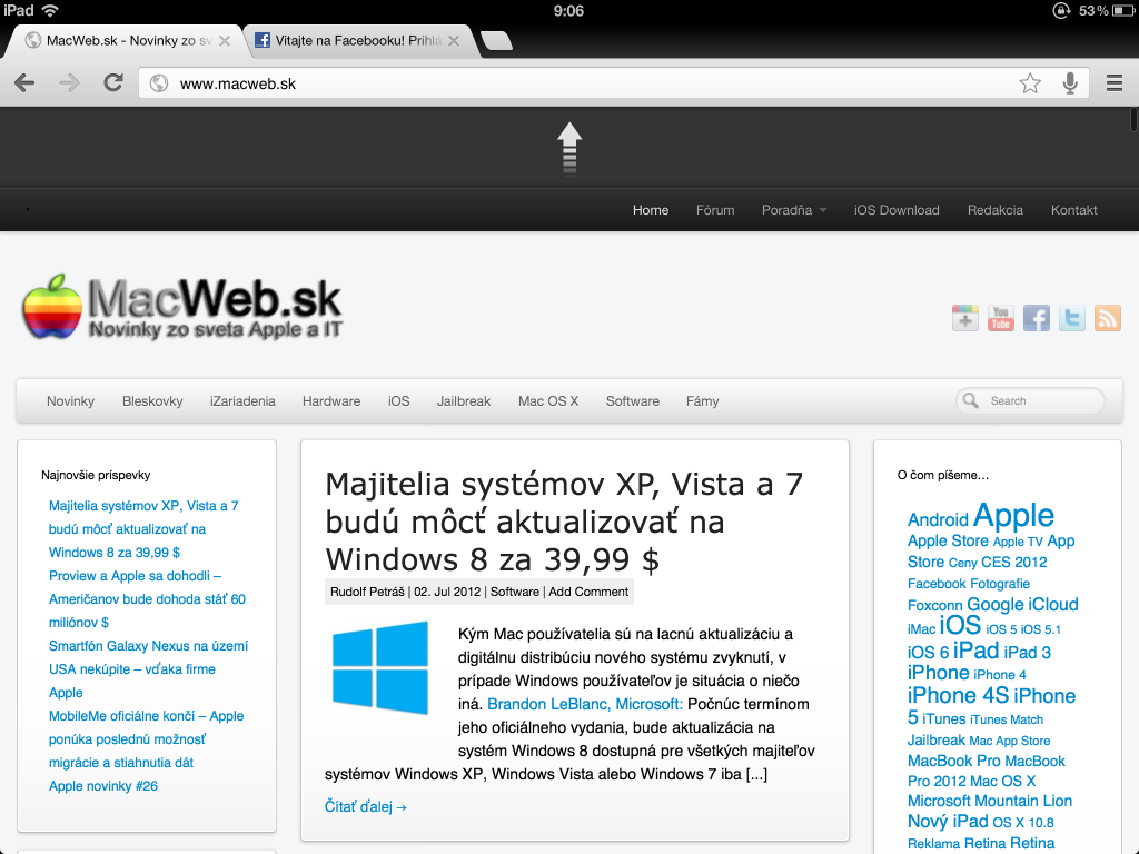 iOS Google Chrome