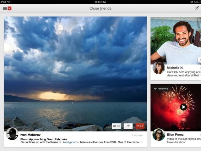 Google+ iPad UI
