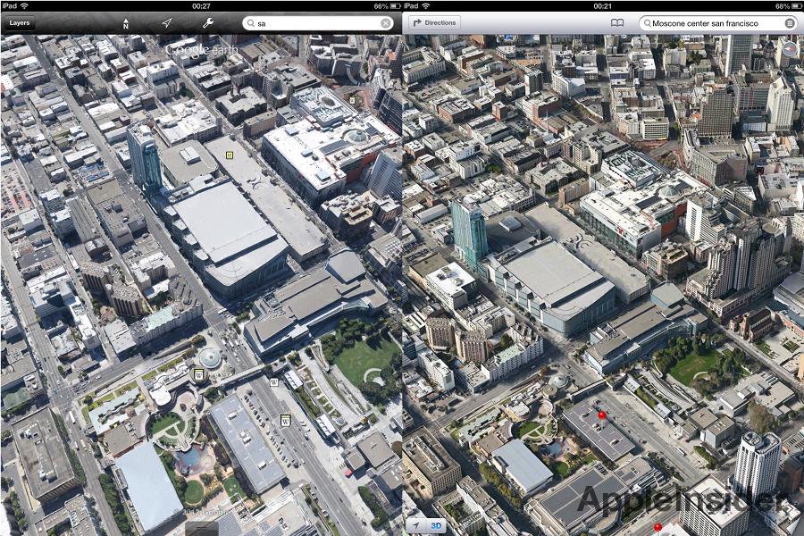 Google Earth vs. Apple Maps