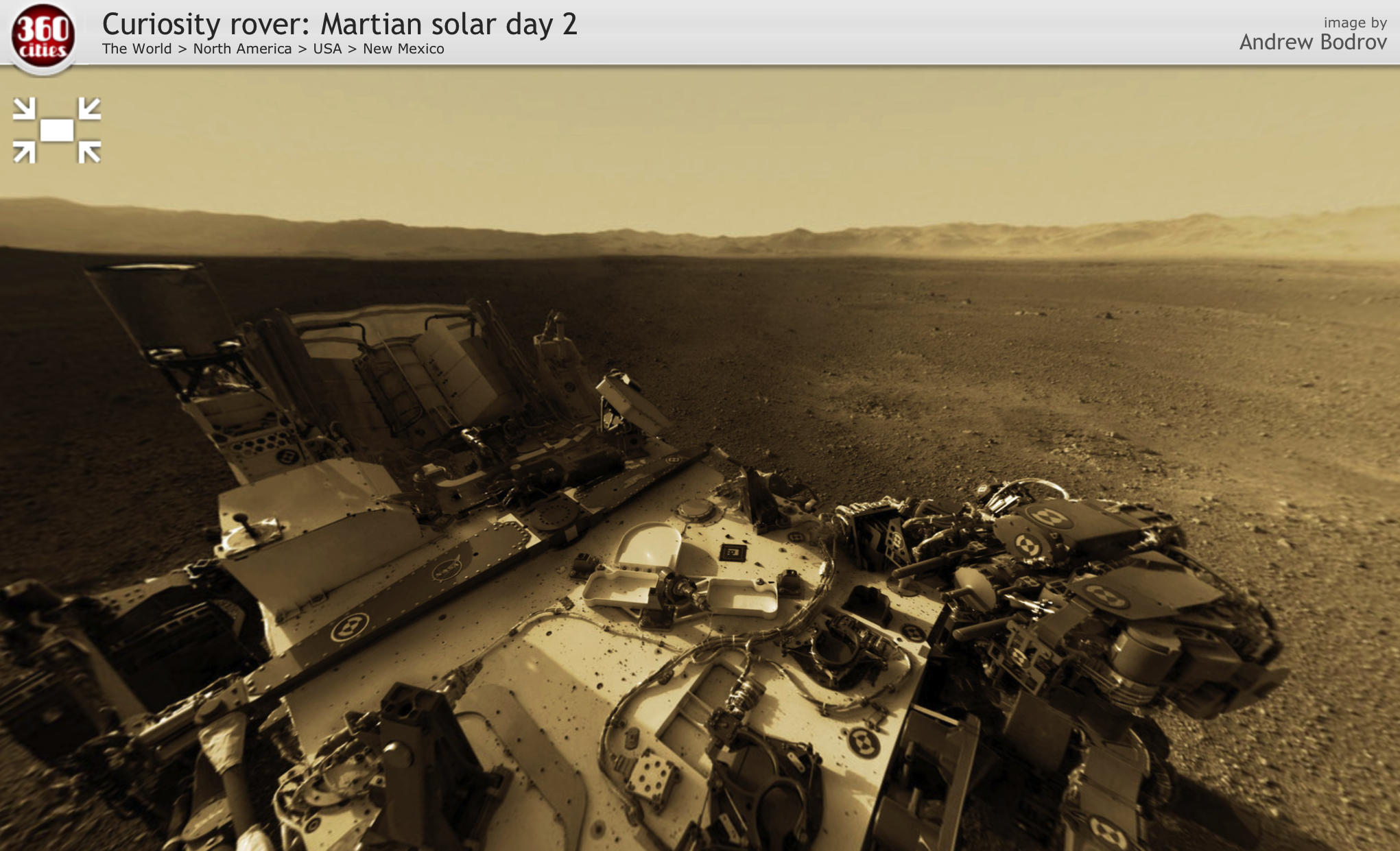Mars Curiosity Panoramic - Pics about space