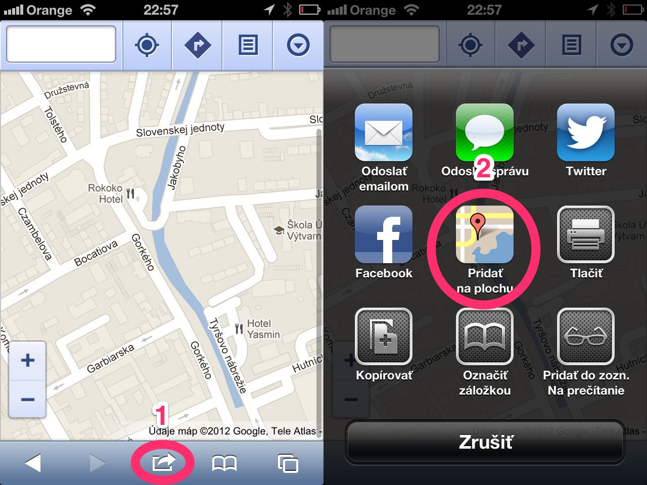 Google Maps iOS Webapp