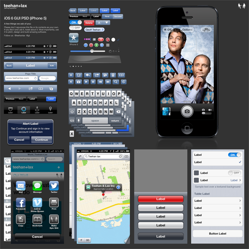 iOS 6 GUI iPhone 5