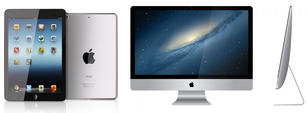iPad mini and iMac 2012