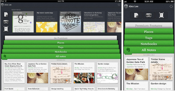 Evernote 5.0 - iPad and iPhone