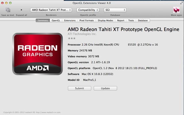 OS X 10.8.3 AMD Radeon Tahiti