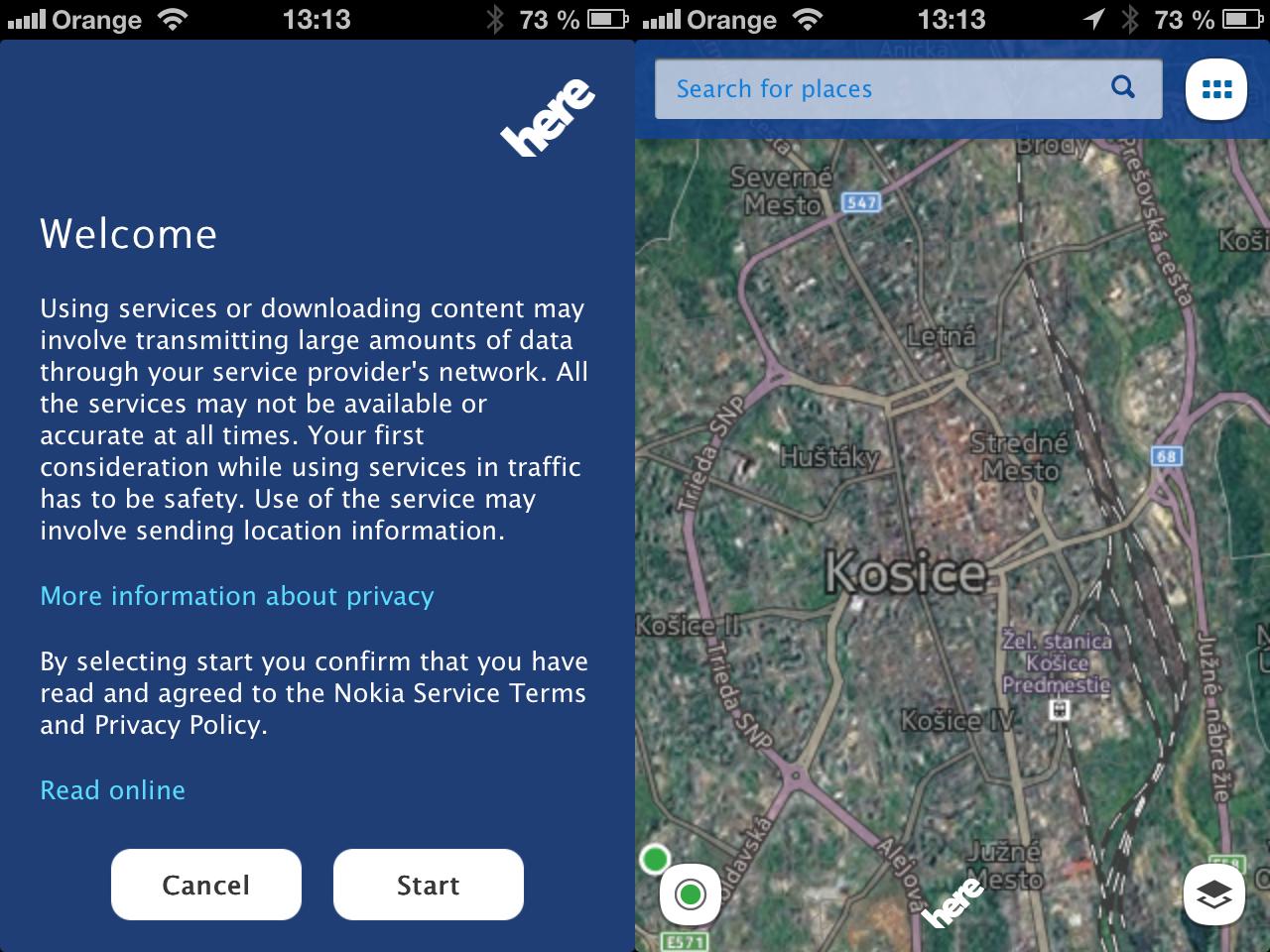 here maps ios mapy od nokie s u dostupn v app store novinky zo sveta apple a it. Black Bedroom Furniture Sets. Home Design Ideas