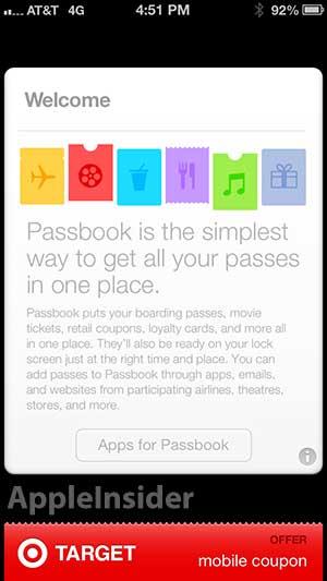iOS 6.1 - Passbook