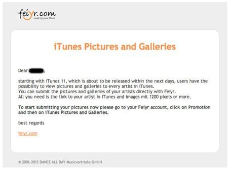 iTunes 11 Feiyr