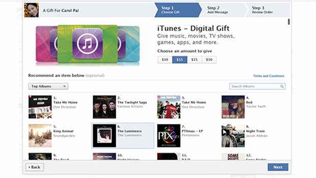 Facebook - iTunes Gift Cards