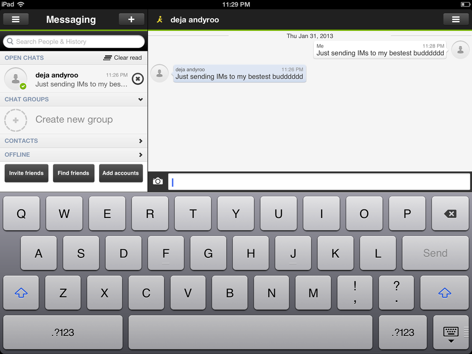 Imo Messenger - iPad