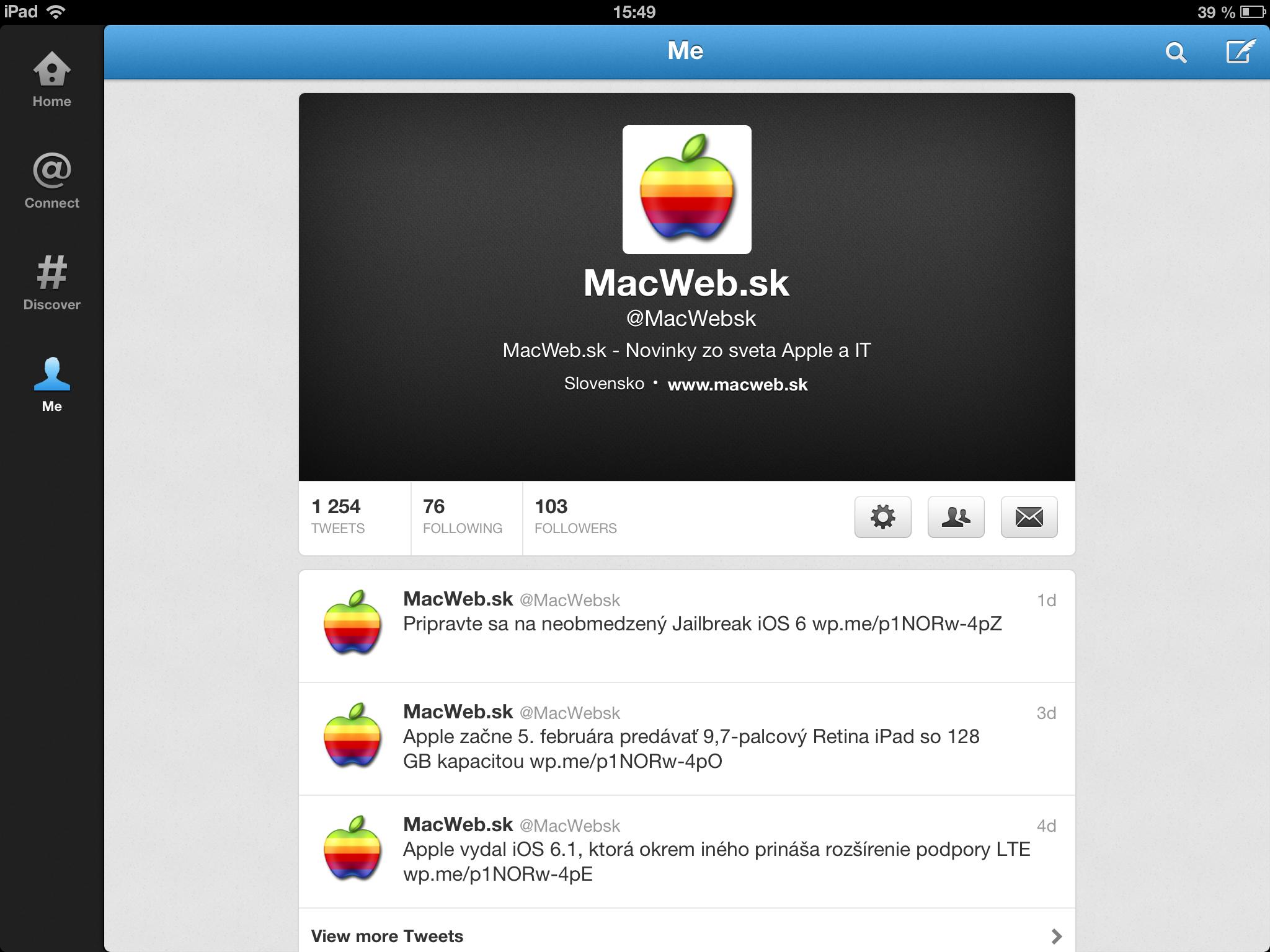 Twitter pre iPad