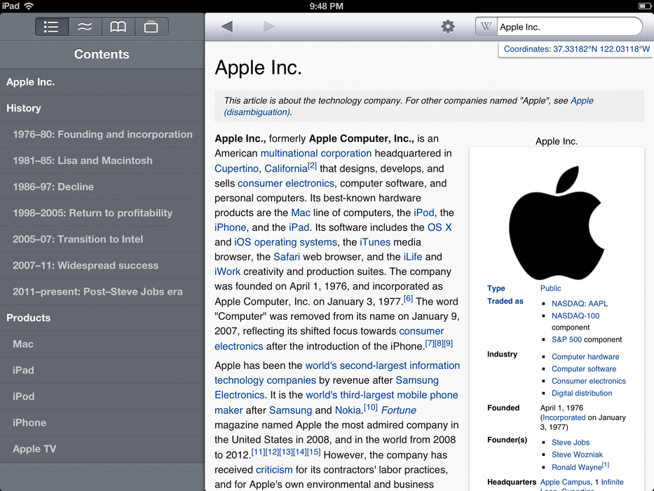 Wikipanion iPad