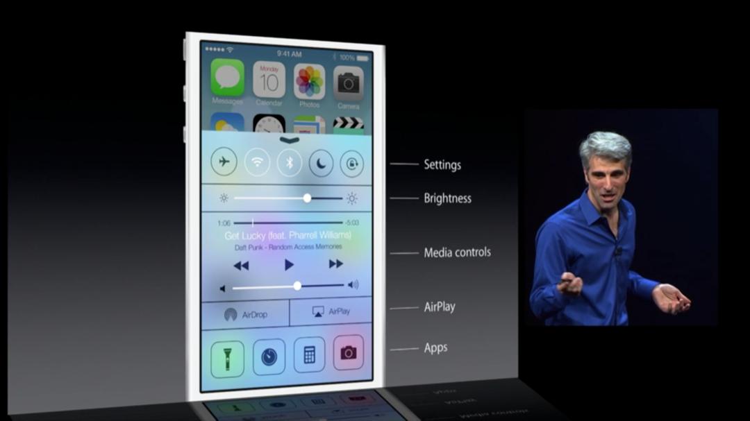 WWDC 2013 - iOS 7 - Control Center