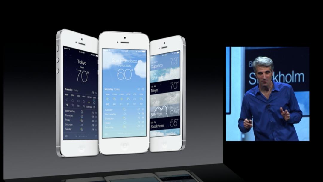WWDC 2013 - iOS 7 - Weather