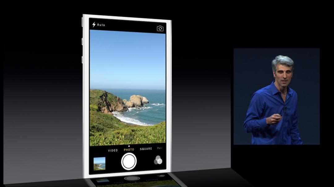 WWDC 2013 - iOS 7 - Camera