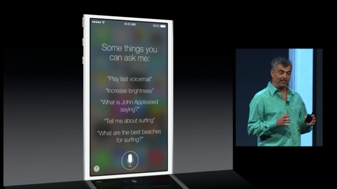 WWDC 2013 - iOS 7 - Siri