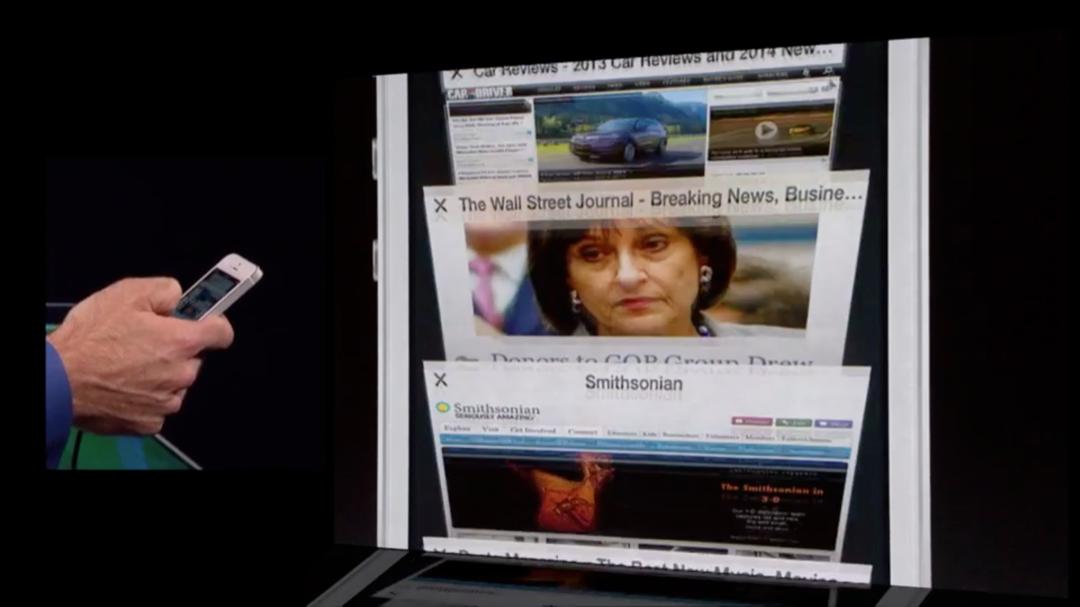 WWDC 2013 - iOS 7 - Safari Tabs