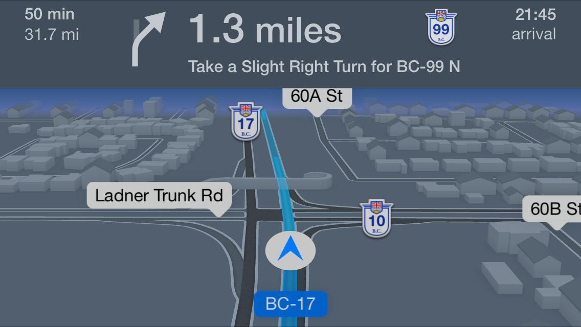 iOS 7 Skryté funkcie - Nočný režom v Mapaách