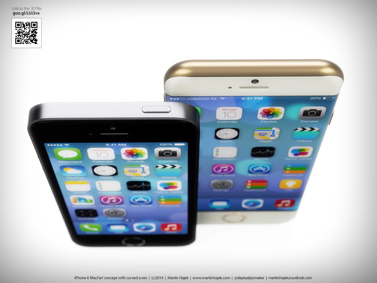 iPhone 6 curved Martin Hajek