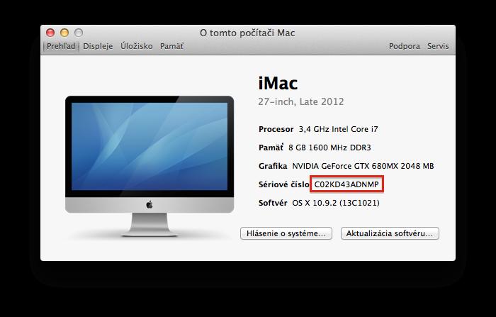 Mac Sériové číslo
