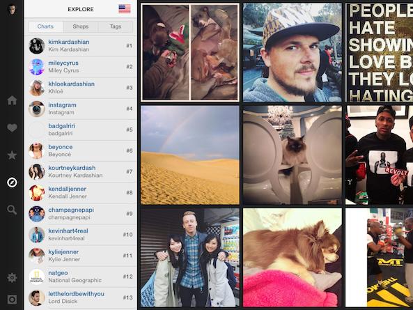 Flow Instagram pre iPad