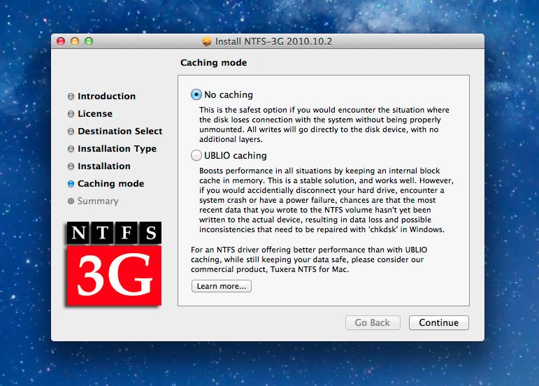 NTFS v OS X